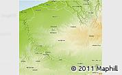 Physical 3D Map of Settat