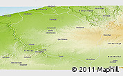 Physical Panoramic Map of Settat