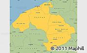 Savanna Style Simple Map of Centre