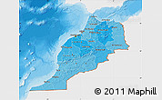 Political Shades Map of Morocco, single color outside