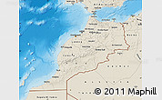 Shaded Relief Map of Morocco