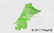 Political Shades 3D Map of Nord Ouest, cropped outside