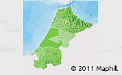 Political Shades 3D Map of Nord Ouest, single color outside