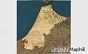Satellite 3D Map of Nord Ouest, darken