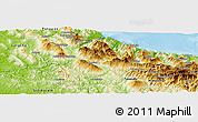 Physical Panoramic Map of Chefchaouene