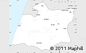 Silver Style Simple Map of Larache