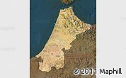 Satellite Map of Nord Ouest, darken