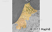 Satellite Map of Nord Ouest, desaturated