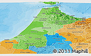 Political Shades Panoramic Map of Nord Ouest