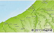 Physical 3D Map of Skhirate Temara