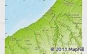 Physical Map of Skhirate Temara