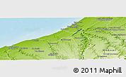 Physical Panoramic Map of Skhirate Temara