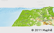 Physical Panoramic Map of Tanger