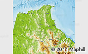 Physical Map of Tetouan