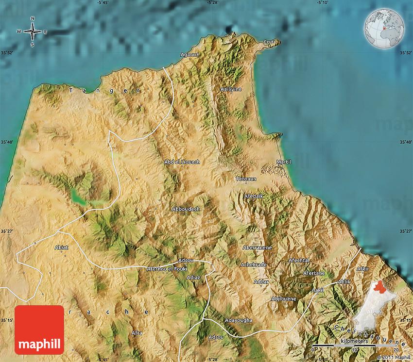 Satellite Map of Tetouan