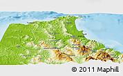Physical Panoramic Map of Tetouan
