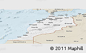 Classic Style Panoramic Map of Morocco