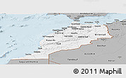 Gray Panoramic Map of Morocco