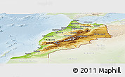 Physical Panoramic Map of Morocco, lighten