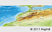 Physical Panoramic Map of Morocco