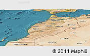 Satellite Panoramic Map of Morocco