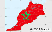 Flag Simple Map of Morocco, single color outside
