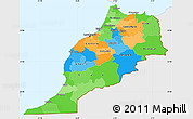 Political Simple Map of Morocco, single color outside