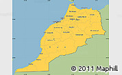 Savanna Style Simple Map of Morocco, single color outside