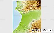 Physical 3D Map of Agadir