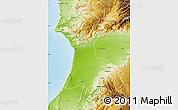 Physical Map of Agadir