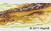 Physical Panoramic Map of Ouarzazate