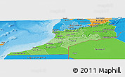 Political Shades Panoramic Map of Sud