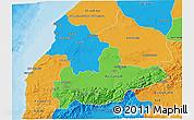 Political 3D Map of Tensift