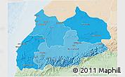 Political Shades 3D Map of Tensift, lighten