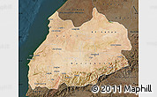 Satellite Map of Tensift, darken