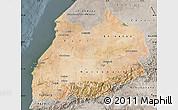 Satellite Map of Tensift, semi-desaturated