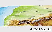 Physical Panoramic Map of Tensift