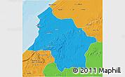 Political 3D Map of Safi