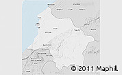 Silver Style 3D Map of Safi