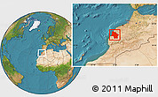 Satellite Location Map of Safi