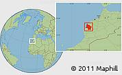 Savanna Style Location Map of Safi