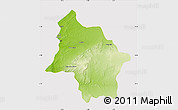 Physical Map of Safi, cropped outside