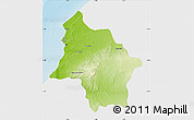 Physical Map of Safi, single color outside