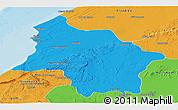 Political Panoramic Map of Safi