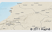 Shaded Relief Panoramic Map of Safi