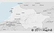 Silver Style Panoramic Map of Safi