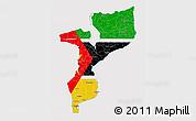 Flag 3D Map of Mozambique