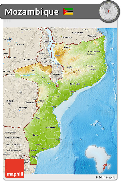 Free physical 3d map of mozambique shaded relief outside physical 3d map of mozambique shaded relief outside sciox Choice Image