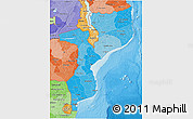 Political Shades 3D Map of Mozambique