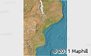 Satellite 3D Map of Mozambique